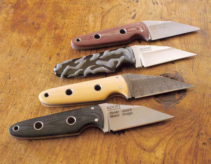 Wharncliffe neck knives