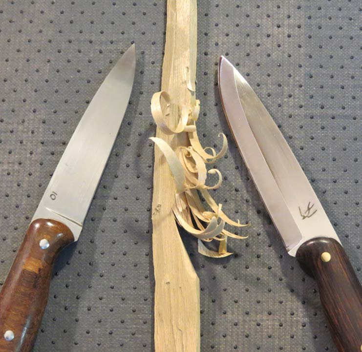 Examples of Scandi grind knives