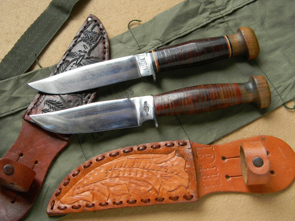 Examples of World War II knives