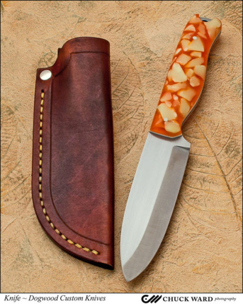 Dan Eastland of Dogwood Custom Knives hired Chuck Ward to take photos of his Hawkins outdoorsman's knife.