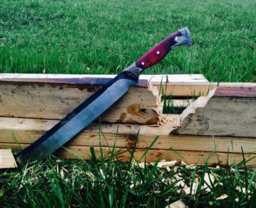 Lost Wood Knives makes a dramtic-looking chopper for chores on the ranch or farm.