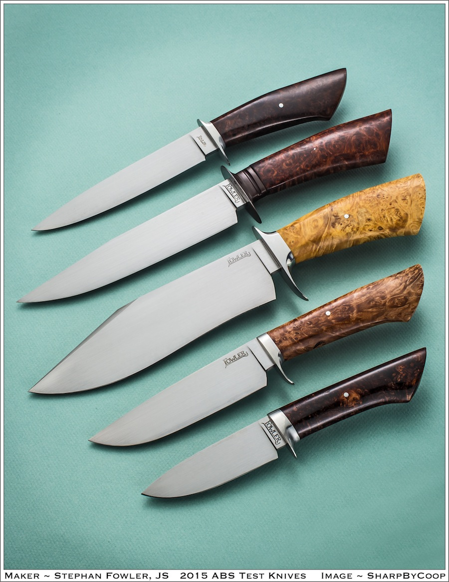 Fowler journeyman smith knives.