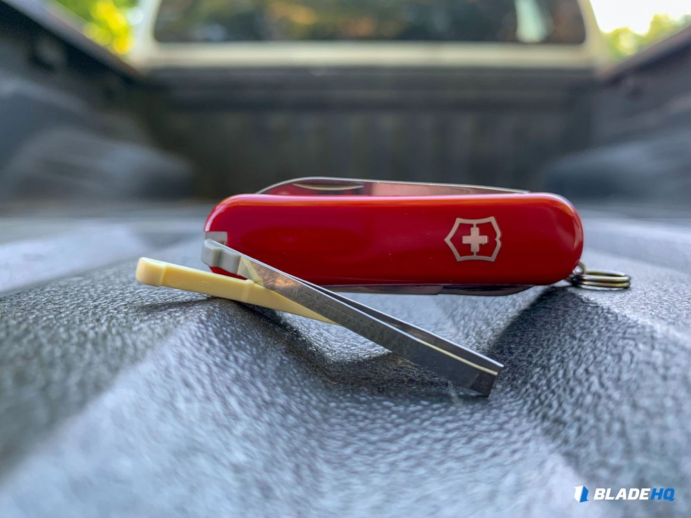 Swiss Army Knife toothpick tweezers