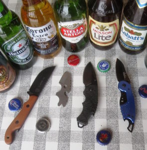 Four beer knives