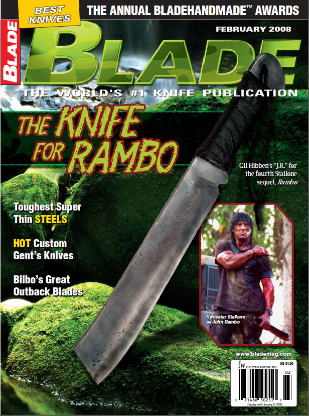 Knife used in fourth Rambo movie