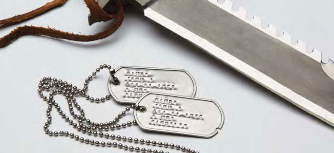 Sylvester Stallone First Blood dog tags